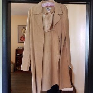 Leather Coldwater Creek Long Jacket